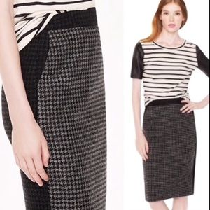 JCREW houndstooth 100% wool pencil skirt EUC